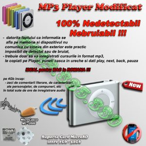 mp3 player cu casca pentru copiat