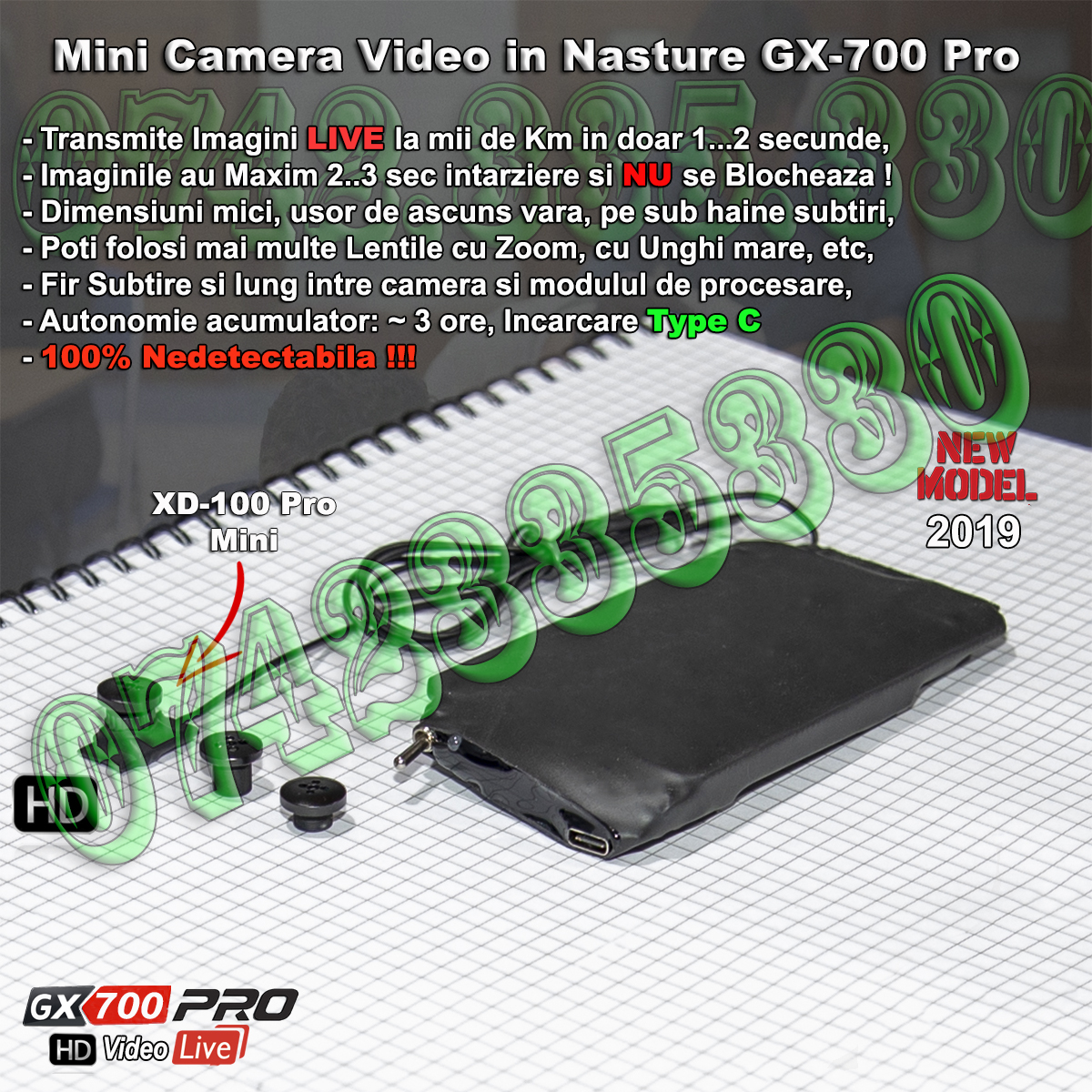 camera video pentru copiat GX700