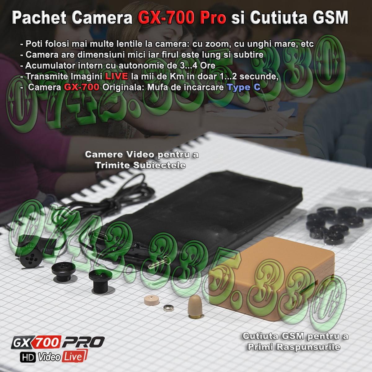 Casca de Copiat cu camera video GX700 Pro