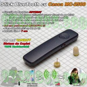 Stick Bluetooth cu microcasca fara fire pentru copiat