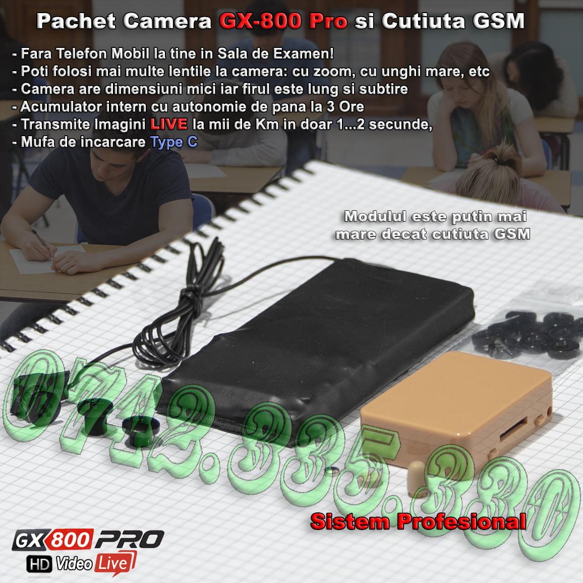 casca de copiat cu camera video GX 800 Pro