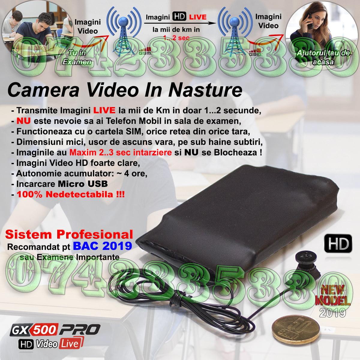 casca de copiat cu camera video